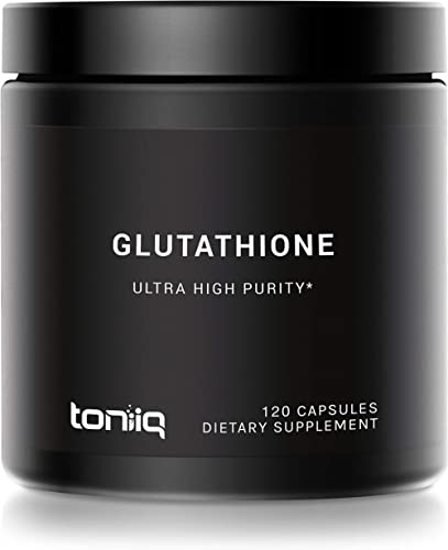 Ultra High Strength Glutathione Capsules - 1000mg Concentrated Formula - 98%+ Pharmaceutical Grade for Enhanced Absor...
