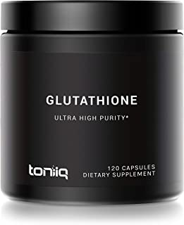 Ultra High Strength Glutathione Capsules - 1000mg Concentrated Formula - 98%+ Highly Purified for Increased Bioavailabilit...