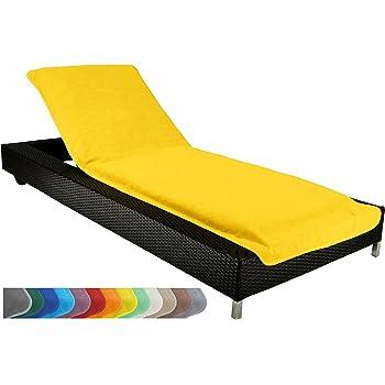 Detex® Coussin pour transat Chaise Longue de Jardin Orange