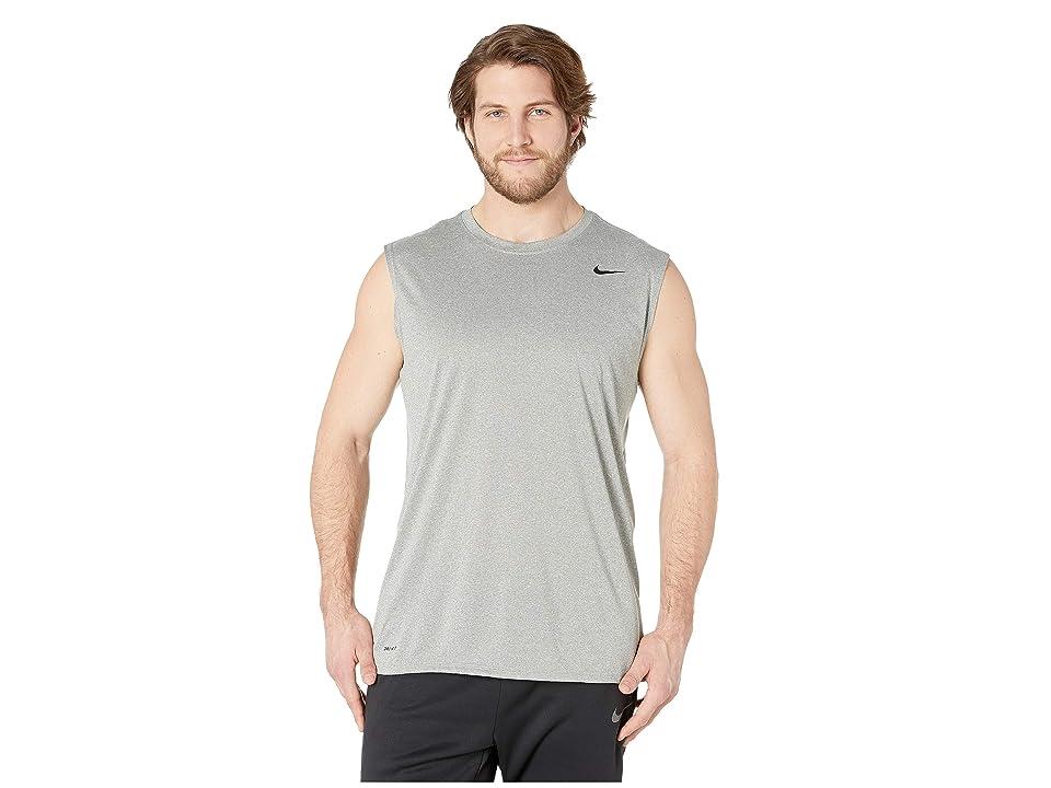 Nike Big Tall Dry Tee Sleeveless Legend 2.0 (Dark Grey Heather/Black) Men