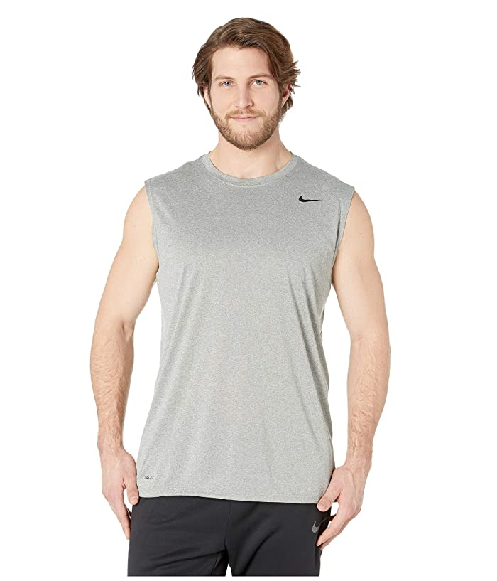 d94b3a82 Nike Big Tall Dry Tee Sleeveless Legend 2.0 (Dark Grey Heather/Black) Men's T  Shirt