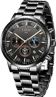 comprar comparacion LIGE Relojes para Hombre Moda Acero Inoxidable Deportivo Analógico Reloj Cronógrafo Impermeable Negocios Reloj de Pulsera