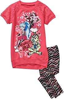 Girls' Challis Jogger Short Sleeve Ruffle Graphic Top Set