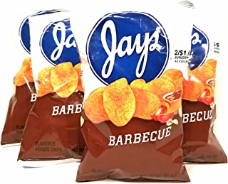 JAY'S BARBEQUE Potato Chips A Chicago Original 5 Pack 1.25oz bags