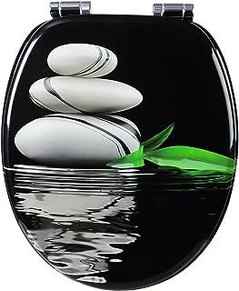 WOLTU WC Asiento para Inodoro, Tapa y Asiento para Inodoro con Cierre Suave Fácil Instalación,asiento de inodoro de madera