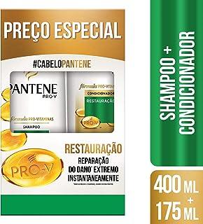 Kit Shampoo Pantene Restauração, 400 ml + Condicionador, 175 ml