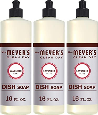 Mrs. Meyer's Clean Day Liquid Dish Soap, Lavender, 16 ounce bottle (Pack of 3)