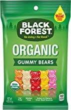 Black Forest Organic Gummy Bears Candy, 4 oz Bag, Pack of 12