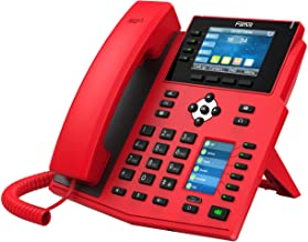 $149 » Fanvil X5U-R High-End VoIP Phone, 3.5-Inch Color Display, 2.4-Inch Side Color Display for DSS Keys. 16 SIP Lines, Dual-Por...