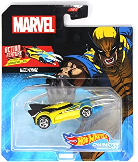 HW Character Cars Marvel Wolverine with Extending Adamantium Claws Action Feature