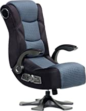 X Rocker Mesh 2.1 Video Gaming Chair 5129501 Pedestal Video Gaming Chair 2.1 Microfiber Mesh, Black/Grey