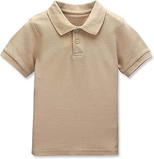 CUNYI Boys' Cotton Pique Polo Shirts Uniform Short Sleeve Tops