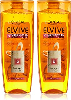 L'Oreal Paris Elvive Oil Shampoo Dry Hair - Pack of 2 Pieces (2 x 400ml)