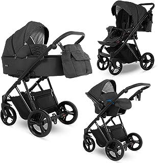 Cochecito 3en1 Isofix silla de bebé Buggy Faro by Lux4Kids Coal Mine 03 Silla de auto 4 en 1 + ISOFIX