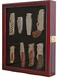 Knife Display Case Shadow Box, with Glass Door, Wall Mountable