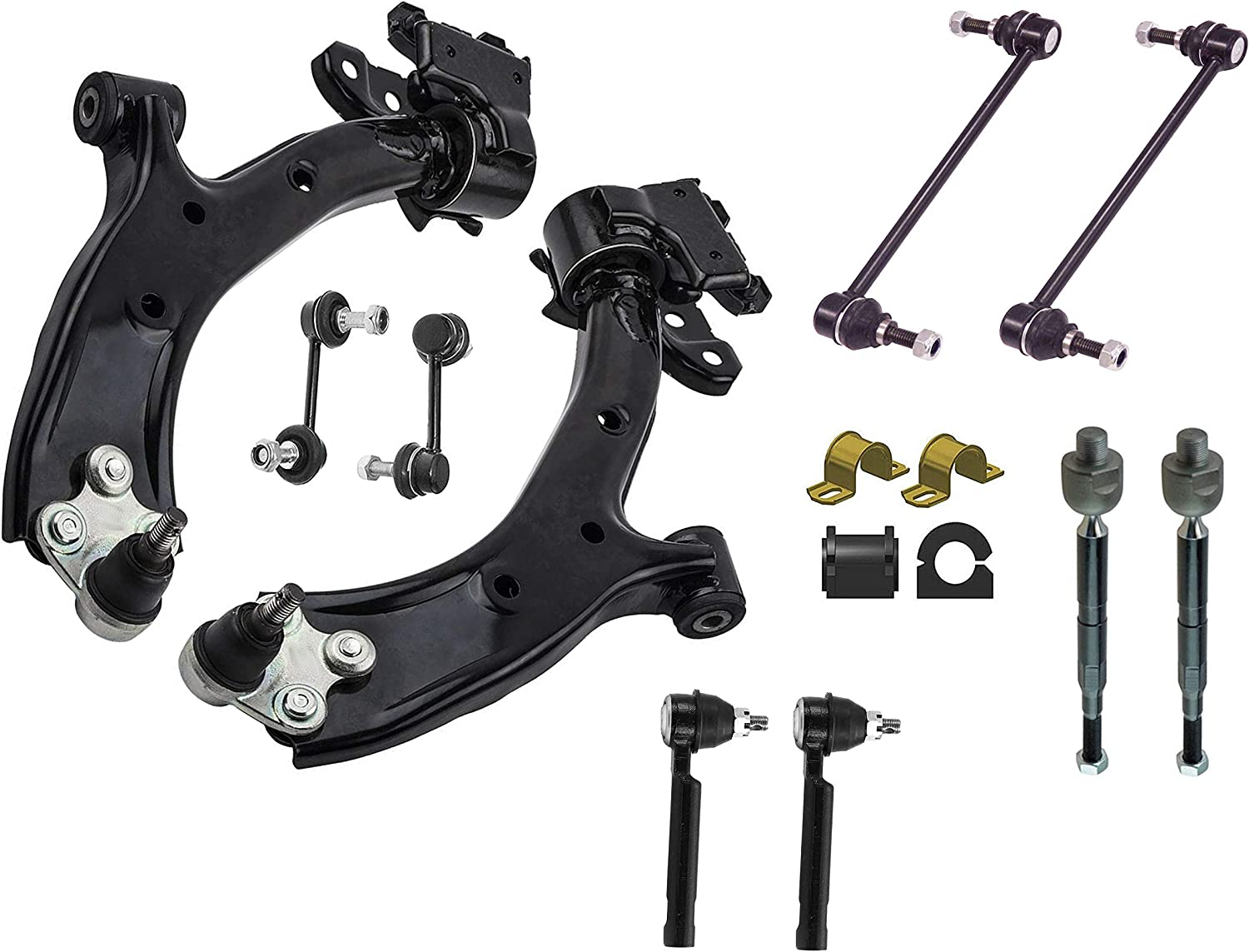 14PC Front Lower Control Arm Suspension Super beauty product restock quality top! Minneapolis Mall Honda 2007-2011 FITS Kit