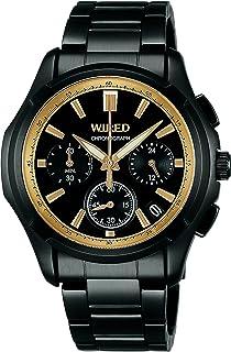 [セイコーウォッチ] 腕時計 ワイアード ブラックコンピレーション クオーツ ストップウオッチ機能 らくらくアジャストバンド AGAW621 ブラック
