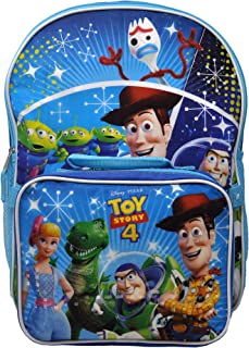 "Toy Story 4 Set 16"" Backpack and Lunch Case Woody Buzz Forky"