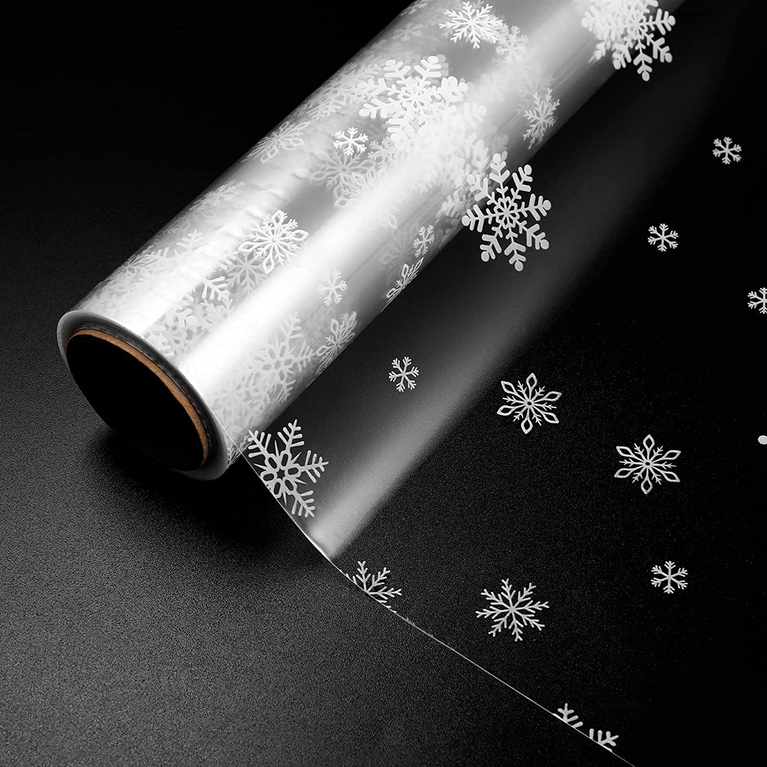 Toyvian Snowflake Christmas Cellophane Wrapping Free shipping New Raleigh Mall 43C x 30M Paper