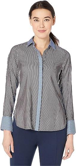 Petite Kyla Non Iron Stripe Shirt