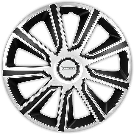 Michelin 92014 Radzierblenden Louise Mit Reflektorsystem N V S 4 Er Set 38 10 Cm 15 Zoll Silber Schwarz Auto