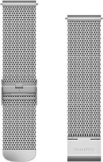 Garmin Viomove Bracciale, Lusso, 20 mm, Maglia Milanese, Argento