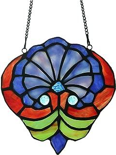Alivagar Stained Glass Window Hangings Gift Suncatcher, 7