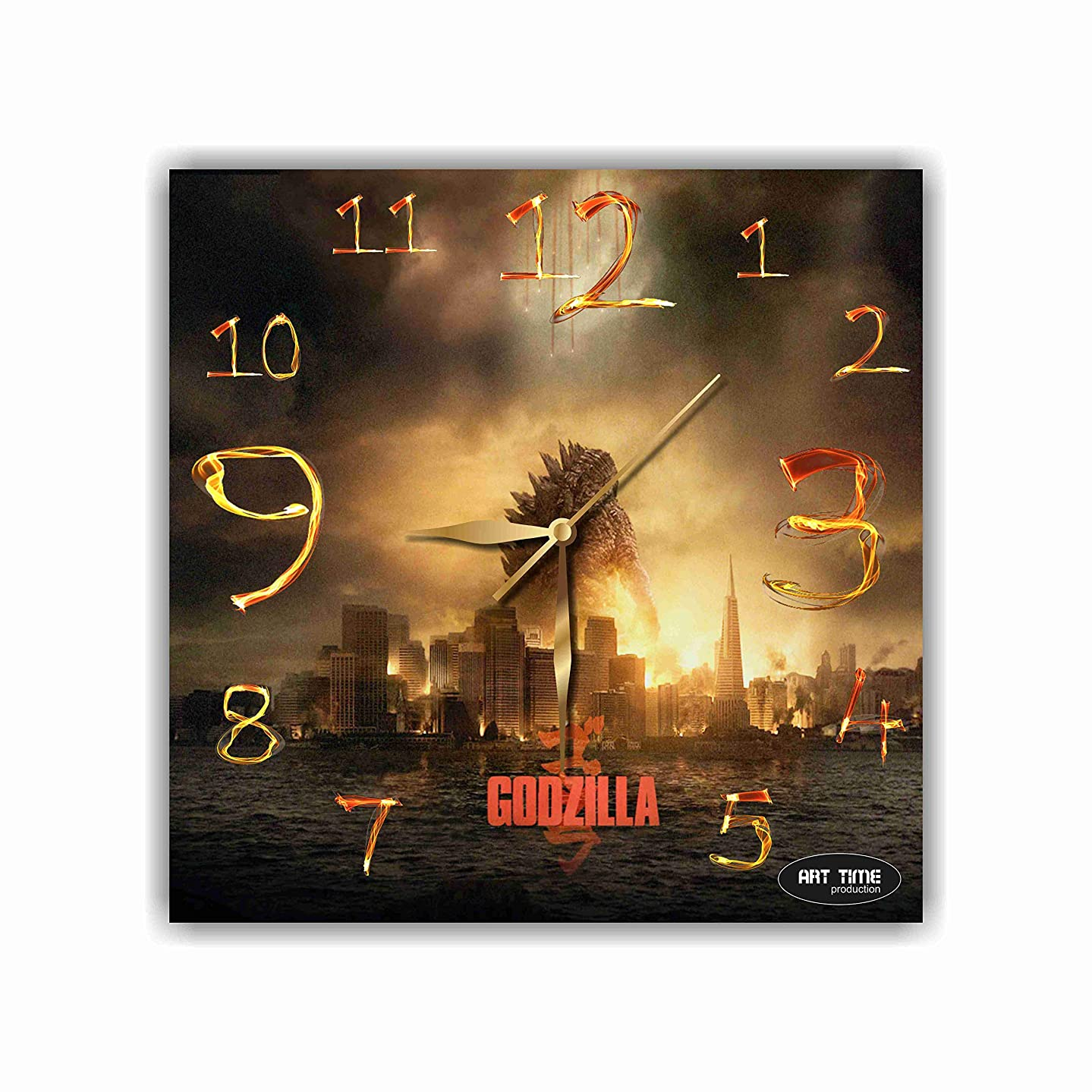 ぼかす司書抗生物質Exclusive wall clock Godzilla 11 壁時計 ゴジラ あなたの友人のための最高の贈り物。あなたの家のためのオリジナルデザイン