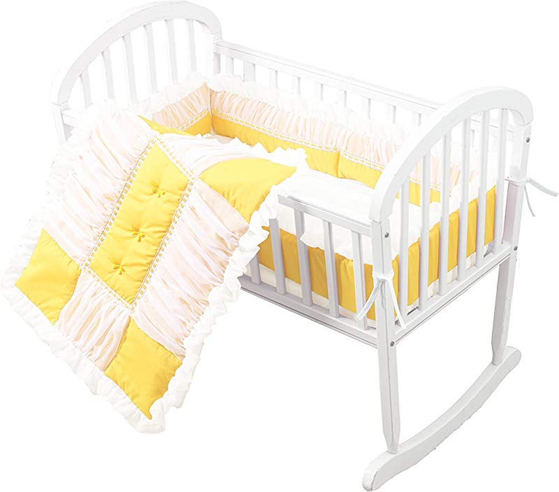 Baby Doll Sweet Touch Baby 3 Piece Cradle Bedding Set Yellow