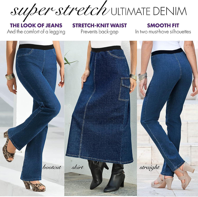 Roamans Women's Plus Size Straight-Leg Jean