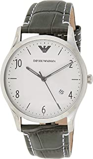 Armani Ar1880 Men's Watch, Beta, Analogue, Quartz, Leather, Black Band