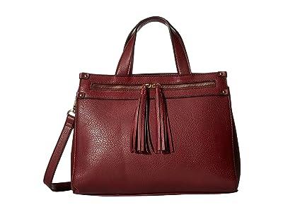 SOLE / SOCIETY Zypa Satchel 2 (Berry) Satchel Handbags
