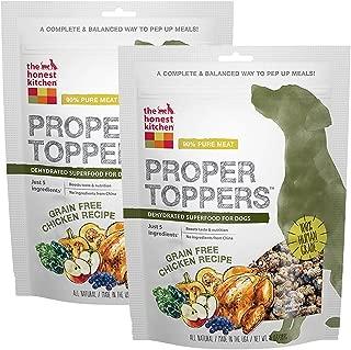 Honest Kitchen The Human Grade Dehydrated Grain Free Dog Food Topper, Free Range Chicken, 28 oz