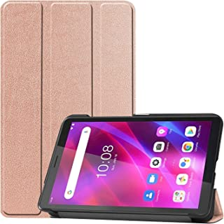 Tablet Accessories For Lenovo Tab M7 3rd Gen Custer Texture Horizontal Flip Leather Case with Three-folding Holder