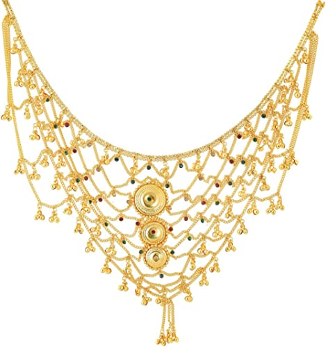 Handicraft Kottage 1 Gram Gold Plated Bridal Belly Chain (Kamarband) for Wedding, Anniversary, Ceremony, Pooja etc. f...