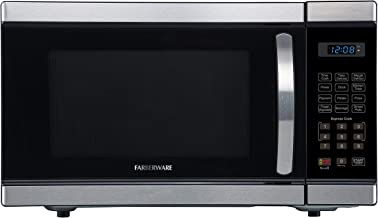 Farberware Professional FMO11AHTBKL 1.1 Cu. Ft. 1000-Watt Microwave Oven with Blue LED Lighting, Brushed Stainless Steel