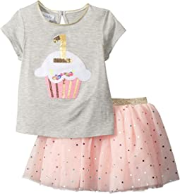 Mud Pie - 1st Birthday Confetti Two-Piece Tutu Set (Infant)