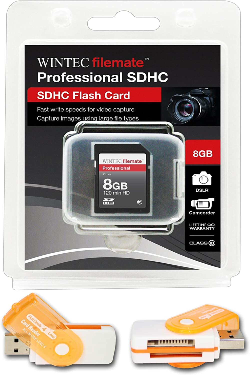 8GB Class 10 SDHC High Speed Memory Card For FUJI FinePix S5700 S5800 S700 S800. Perfect for high-speed continuous shooting and filming in HD. Comes with Hot Deals 4 Less All In One Swivel USB card reader and.
