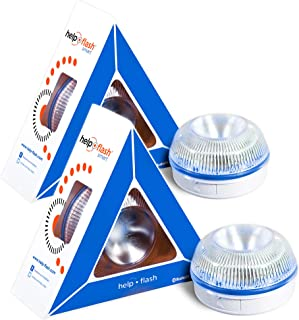 HELP FLASH SMART PK2750 2X luz Emergencia AUTÓNOMA, señal v16 preseñalización Peligro+Linterna, homologada, DGT, Base iman...