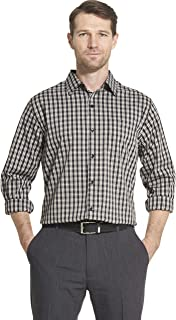 Men's Traveler Stretch Long Sleeve Button Down Black/Khaki/Grey Shirt