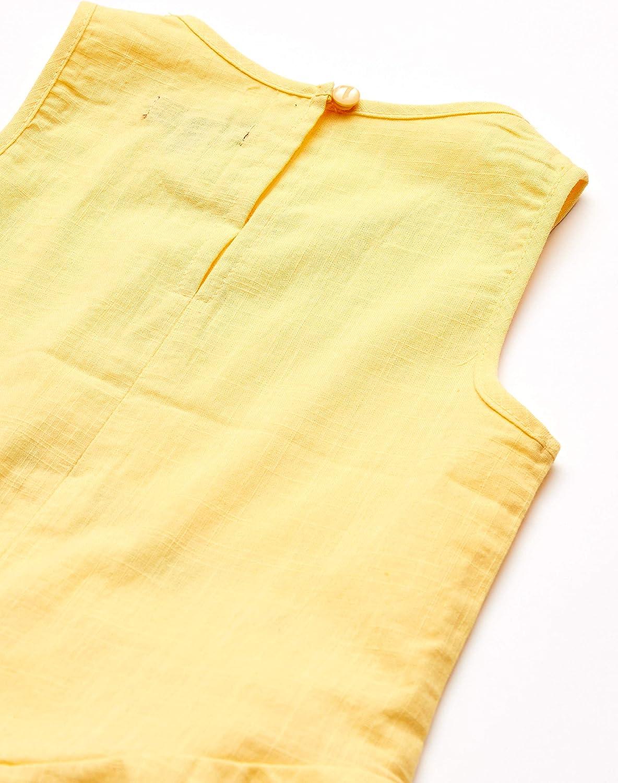 7 For All Mankind Girls Textured Woven Ruffle Hem Tank Top