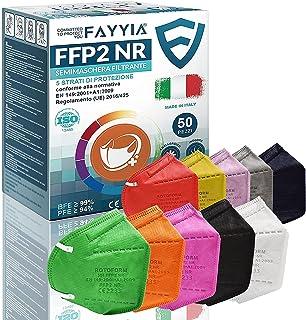 50St. ffp2 masken, 5-lagig schutz ffp2 maske bunt, ffp2 maske ce CE 2233, ffp2 maske bunt erwachsene EN 149:2001+A1:2009, ...
