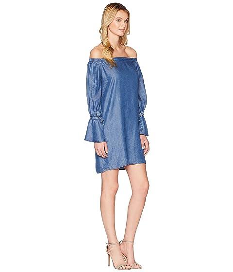 descubiertos Bobeau azul hombros con vestido Auden Colección de lavado B xqE8vqF0