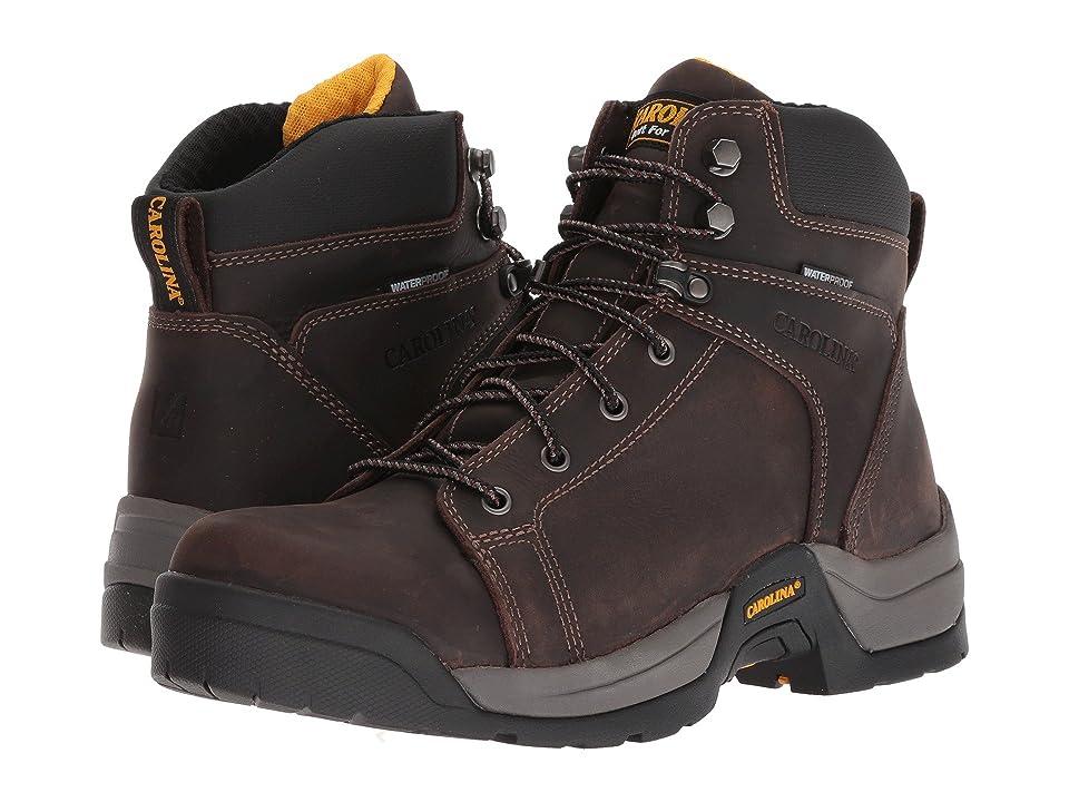 Carolina Lace-to-Toe Waterproof Work Boot CA5088 (Buster Dark Beige/Leather Upper) Men