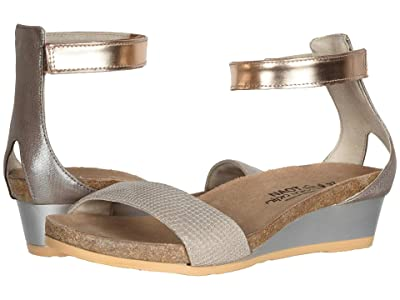 Naot Pixie (Beige Lizard Leather/Silver Threads Leather/Rose Gold Leather) Women