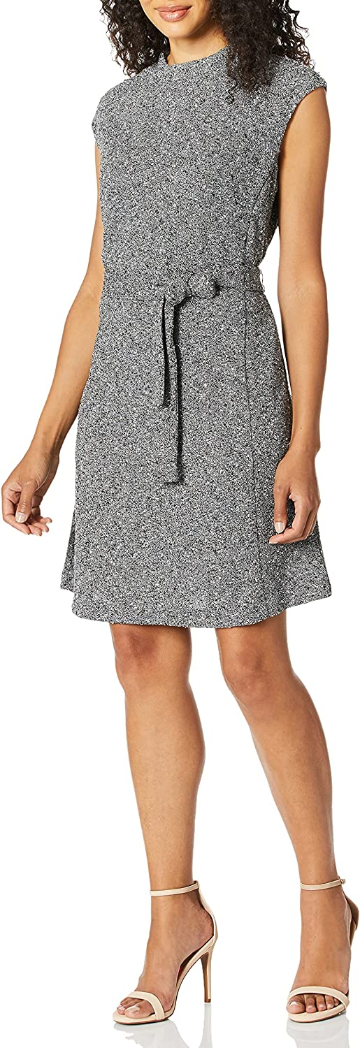 ELLEN TRACY Women's Cap Sleeeve Fit and Flare Dress
