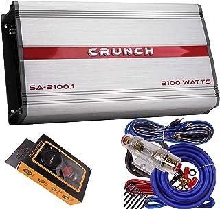 $97 » Crunch SA-2100.1 Smash Series 2,100-Watt Monoblock Class AB Amp Car Audio Sound System Subwoofer Speaker Amp Amplifier wit...