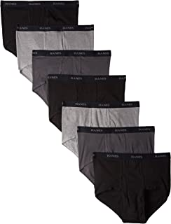 Men's 7-Pack Full-Cut Pre-Shrunk Briefs – Colors May Vary