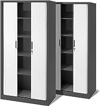 Armario para Archivo Armario con Llaves Seguridad de la Oficina Duokon 2 Cierres de Armario para Muebles