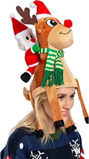 JOYIN Christmas Reindeer Hat Santa Riding a Reindeer for Cute and Festive Christmas Party Dress Up Celebrations, Decoratio...